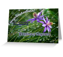 Featured Banner Challenge for Bubbling Artists Greeting Card