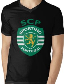Sporting Clube de Portugal Mens V-Neck T-Shirt