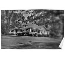 Little house in Pendleton-B&W Poster