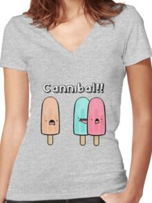 CANNIBAL! Women's Fitted V-Neck T-Shirt