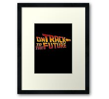 On Track to The Future Framed Print
