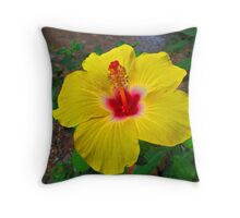 Strong colours - another rose of Sharon Throw Pillow