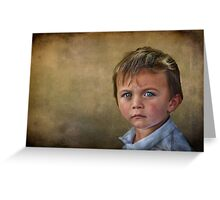Blue-Eyed Boy Greeting Card