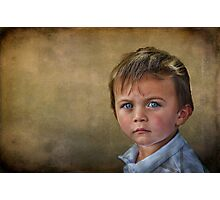 Blue-Eyed Boy Photographic Print