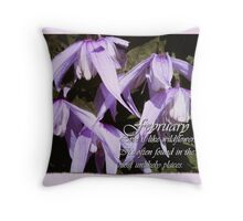 February's Vibrant Virgin's Bower Throw Pillow