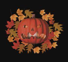 Mean Jack O Lantern Leaves Halloween Shirt Kids Clothes