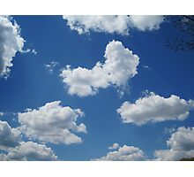 Clouds in a Blue Sky - Serene Photographic Print