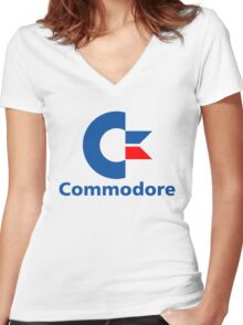 Classic Commodore C64 Graphic Tee Women's Fitted V-Neck T-Shirt