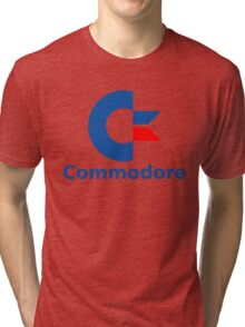 Classic Commodore C64 Graphic Tee Tri-blend T-Shirt