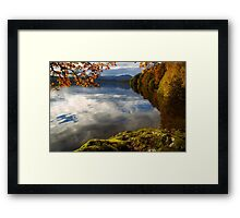 Autumn on Loch Achray, Scotland Framed Print