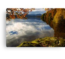 Autumn on Loch Achray, Scotland Canvas Print