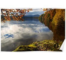 Autumn on Loch Achray, Scotland Poster