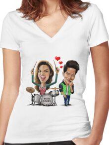 ALDUB Women's Fitted V-Neck T-Shirt