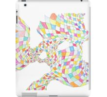 Geometric landscape multi colour rainbow drawing iPad Case/Skin
