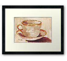Be a coffee-drinking individual - Espresso yourself! Framed Print