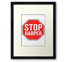 Stop Harper—Join the Movement Framed Print