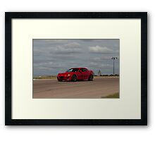 Trevor K. Silva's Mazda RX8 at Turn 14, Heartland Park Topeka Road Course Framed Print