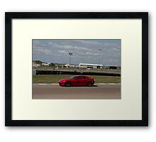 Trevor K. Silva's Mazda RX8 at the Heartland Park Topeka Road Course Framed Print