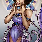Astrid in Asters Art Nouveau by AlexKujawa