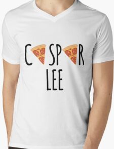 Caspar Lee - Pizza! Mens V-Neck T-Shirt