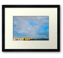 rainbow over San Juan Framed Print