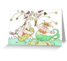 Santa and the Mermaid Greeting Card