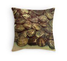 scallops fish shells mussels market  Throw Pillow