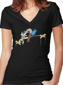 Discord: Master of Puppets  Women's Fitted V-Neck T-Shirt