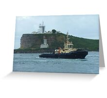 Tugs returning to port Greeting Card