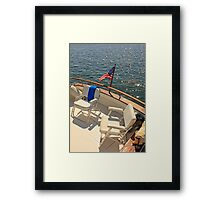Ready To Go Boating Framed Print