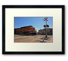 BNSF Framed Print