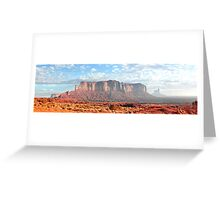 Panorama of Monument Valley Butte Greeting Card