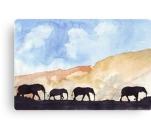 Silhouettes of Africa Canvas Print