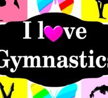 BUTTERFLY I LOVE GYMNASTICS DESIGN Sticker