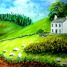 Farmhouse in Scotland or Northern Ireland by Hilary Robinson