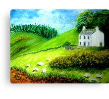 Farmhouse in Scotland or Northern Ireland Canvas Print