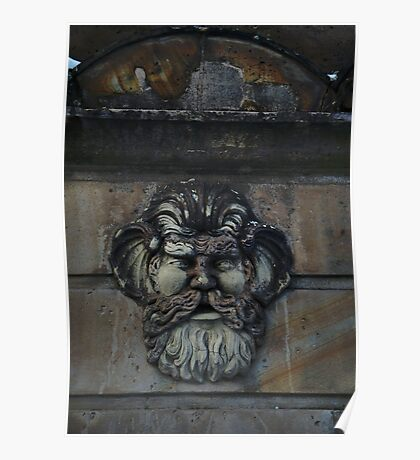 Face  of an old fountain Poster