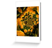 Dance of the Yellow Tulips Greeting Card