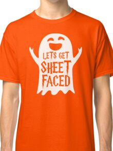 Lets Get Sheet Faced Ghost Funny Humor Halloween Costume Adult - Men's T-Shirt Classic T-Shirt