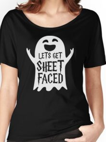 Lets Get Sheet Faced Ghost Funny Humor Halloween Costume Adult - Men's T-Shirt Women's Relaxed Fit T-Shirt