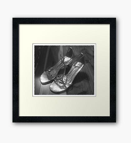 Wedding Shoes Framed Print