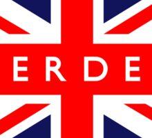 Aberdeen UK British Union Jack Flag Sticker