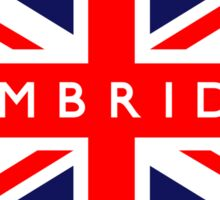 Cambridge UK British Union Jack Flag Sticker
