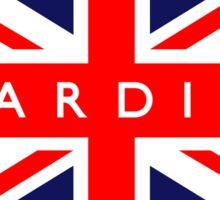 Cardiff UK British Union Jack Flag Sticker