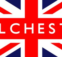 Colchester UK Flag  Sticker