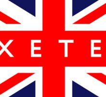 Exeter UK British Union Jack Flag Sticker