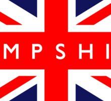 Hampshire UK British Union Jack Flag Sticker