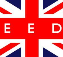 Leeds UK British Union Jack Flag Sticker
