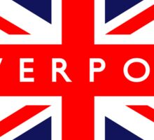 Liverpool UK British Union Jack Flag Sticker