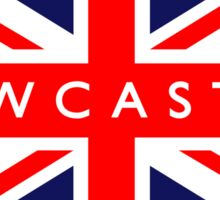 Newcastle UK British Union Jack Flag Sticker